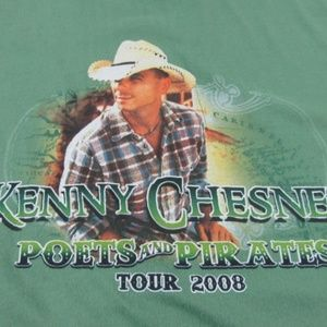 Kenny Chesney Graphic Tee 2008 Tour Shirt